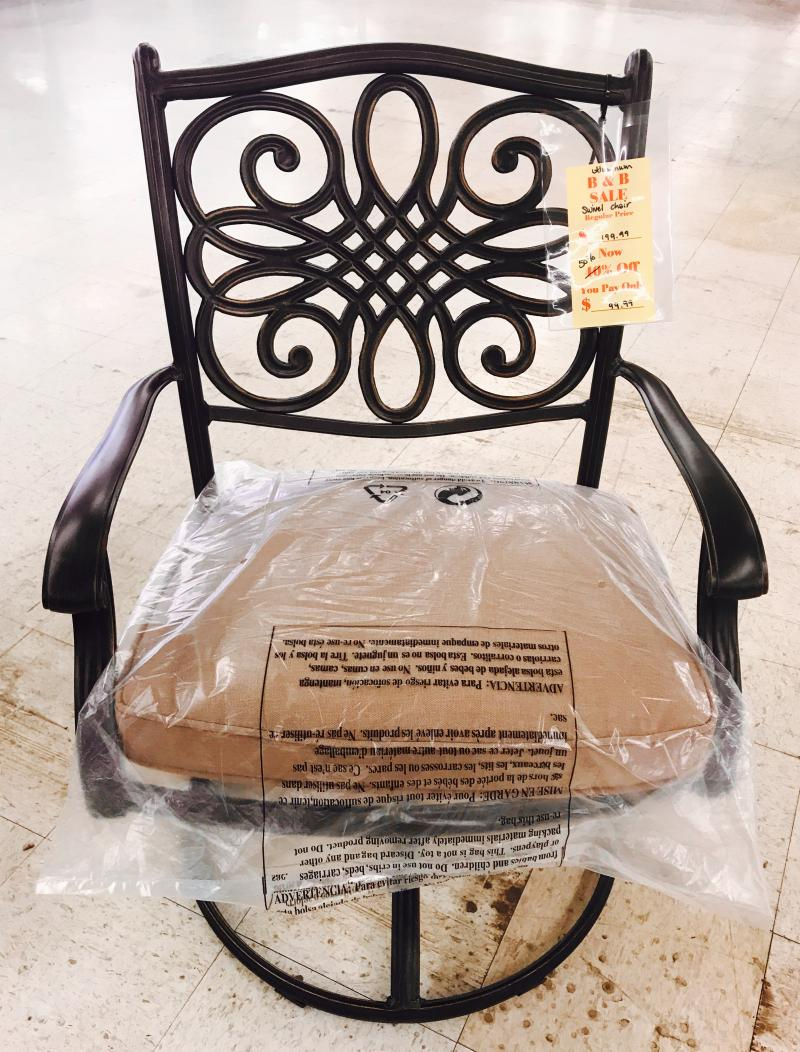 Aluminum Outdoor Swivel Chair $99.99