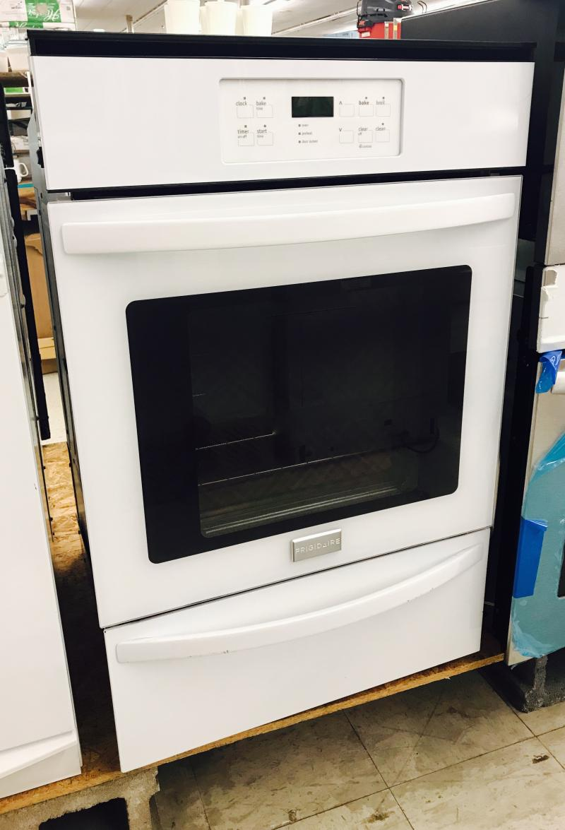 "24"" White Gas Wall oven $659.99"